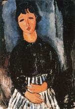 Modigliani, La cameriera con grembiule a righe.png