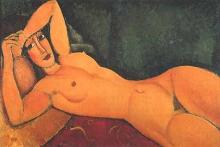 Modigliani, Nudo sdraiato con braccio sinistro sulla fronte.jpg