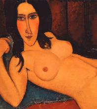 Modigliani, Nudo sdraiato con capelli sciolti [dettaglio].png