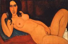 Modigliani, Nudo sdraiato con capelli sciolti.png