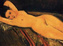 Modigliani, Nudo sdraiato con le braccia dietro la testa.png