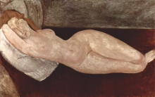 Modigliani, Nudo sdraiato, la testa poggiata sul braccio destro [1].jpg