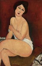 Modigliani, Nudo seduto su un divano.png