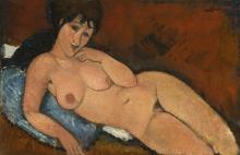 Modigliani, Nudo su un cuscino blu.jpg
