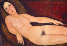 Modigliani, Nudo su un divano [dettaglio 1].png