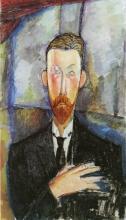 Amedeo Modigliani, Paul Alexandre davanti a una vetrata | Paul Alexandre devant un vitrage | Paul Alexandre in front of a glazing