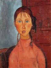 Modigliani, Ragazza con le trecce.jpg