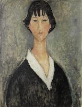 Modigliani, Ragazza dai capelli neri.jpg