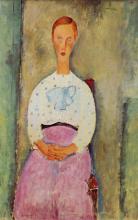 Modigliani, Ragazza in camicetta a pois.png