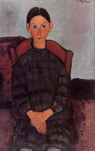 Modigliani, Ragazza in grembiule nero.png