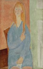 Modigliani, Ragazza seduta, i capelli sciolti.png