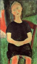 Modigliani, Ragazza seduta, le mani in grembo.png