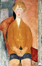 Modigliani, Ragazzo in pantaloni corti.jpg