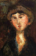 Modigliani, Ritratto di Beatrice Hastings con cappello.png