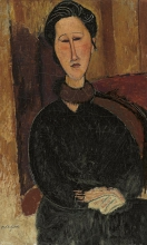 Modigliani, Ritratto di Hanka Zborowska [2].jpg