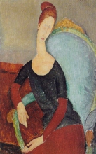 Modigliani, Ritratto di Jeanne Hebuterne seduta in una poltrona.jpg