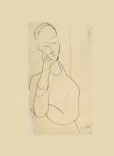 Modigliani, Ritratto di Lunia Czechowska | Portrait de Lunia Czechowska | Portrait of Lunia Czechowska