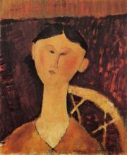 Modigliani, Ritratto di Mrs. Hastings | Portrait de Mrs. Hastings | Portrait of Mrs. Hastings