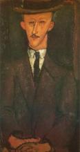 Modigliani, Ritratto di uomo con cappello | Portrait d'homme au chapeau | Portrait of a man in a hat