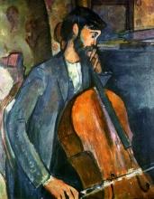 Modigliani, Studio per 'Il suonatore di violoncello'.jpg