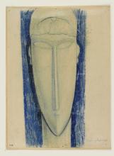 Modigliani, Studio per una testa scolpita.jpg