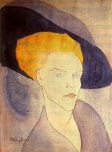 Modigliani, Testa di donna con cappello.jpeg