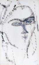 Modigliani, Testa di donna. Kiki | Tête de femme. Kiki? | Head of a woman. Kiki? | Cabeza de mujer. ¿Kiki?