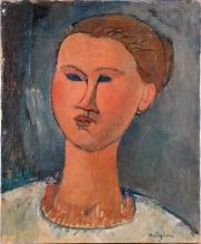 Amedeo Modigliani, Testa di giovane donna   Tête de jeune femme   Head of a young woman