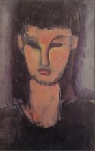 Amedeo Modigliani, Testa di giovane donna | Tête de jeune femme | Head of a young woman