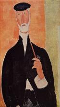 Modigliani, Uomo con la pipa   Homme à la pipe   Man with a pipe