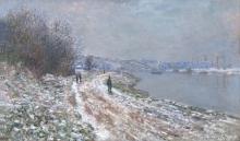 Monet, Alzaia ad Argenteuil | Chemin de halage à Argenteuil | Towpath at Argenteuil, winter
