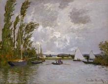 Monet, Argenteuil visto dal piccolo braccio della Senna | Argenteuil vu de la petite branche de la Seine | Argenteuil seen from the small branch of the Seine