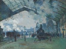 Monet, Arrivo del treno dalla Normandia, Gare Saint Lazare   Arrivée du train du Normandie, Gare Saint-Lazare   Arrival of the Normandy train, Gare Saint-Lazare