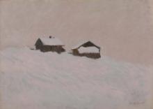 Monet, Case nella neve in Norvegia.jpg