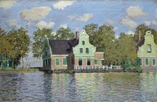 Monet, Case sulla riva dello Zaan | Häuser am Ufer der Zaan | Maisons sur la rive du Zaan | Houses on the bank of the Zaan