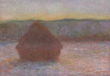 Monet, Covone di grano (Disgelo, tramonto) | Meules de blé (Dégel, coucher de soleil) | Stack of wheat (Thaw, sunset)
