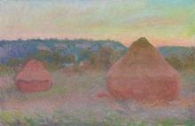Monet, Covoni di grano (Fine del giorno, autunno) | Meules de blé (Fin de la journée, automne) | Stacks of wheat (End of day, autumn)