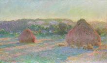 Monet, Covoni di grano (Fine estate) | Meules de blé (Fin d'été) | Stacks of wheat (End of summer)