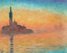 Monet, Crepuscolo, Venezia | Crépuscule, Venise | Twilight, Venice