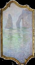 Monet, Etretat: l'Aiguille e la Porte d'Aval   Étretat : l'Aiguille et la Porte d'Aval   Étretat: l'Aiguille and the Porte d'Aval