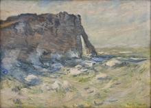Monet, Falesia e Porte d'Aval con mare grosso   Falaise et Porte d'Aval par gros temps   Cliff and Porte d'Avale with rough sea