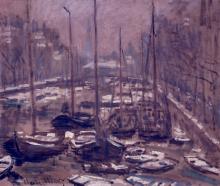 Monet, Il Geldersekade ad Amsterdam in inverno | Le Geldersekade à Amsterdam en hiver | The Geldersekade in Amsterdam in winter
