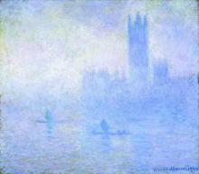Monet, Il Parlamento, effetto di nebbia, Londra.jpg
