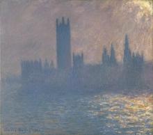Monet, Il Parlamento, effetto di sole | Le Parlement, effet de soleil | Houses of Parliament, sunlight effect