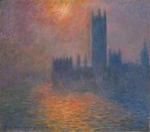 Claude Monet, Il Parlamento, tramonto | Le Parlement, coucher du soleil | Houses of Parliament, sunset