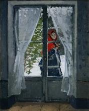 Monet, Il fazzoletto rosso   La capeline rouge   The red kerchief