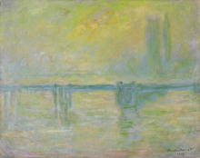 Monet, Il ponte di Charing Cross, nebbia | Pont de Charing Cross Bridge, brouillard | Charing Cross Bridge, fog