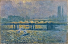 Monet, Il ponte di Charing Cross, riflessi sul Tamigi   Pont de Charing Cross, reflets sur la Tamise   Charing Cross Bridge, reflections on the Thames