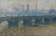 Monet, Il ponte di Waterloo, cielo coperto | Pont de Waterloo, ciel couvert | Waterloo Bridge, overcast sky
