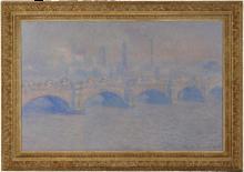 Monet, Il ponte di Waterloo, effetto di sole   Pont de Waterloo, effet de soleil   Waterloo Bridge, sunlight effect